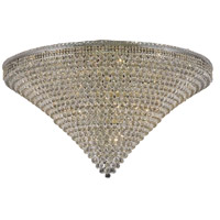 Elegant Lighting Tranquil 48 Light Flush Mount in Chrome with Swarovski Strass Clear Crystal 2527F60C/SS