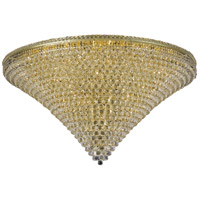 Elegant Lighting Tranquil 48 Light Flush Mount in Gold with Spectra Swarovski Clear Crystal 2527F60G/SA