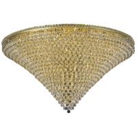 Elegant Lighting 2527F60G/SS Tranquil 48 Light 60 inch Gold Flush Mount Ceiling Light in Swarovski Strass