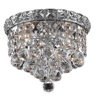 Elegant Lighting Tranquil 2 Light Flush Mount in Chrome with Swarovski Strass Clear Crystal 2527F8C/SS