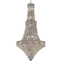 Elegant Lighting Tranquil 34 Light Foyer in Chrome with Swarovski Strass Clear Crystal 2527G28C/SS