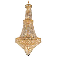 Elegant Lighting Tranquil 34 Light Foyer in Gold with Elegant Cut Clear Crystal 2527G28G/EC