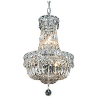 Elegant Lighting Tranquil 6 Light Pendant in Chrome with Royal Cut Clear Crystal 2528D12C/RC