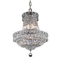 Elegant Lighting Tranquil 6 Light Pendant in Chrome with Royal Cut Clear Crystal 2528D14C/RC