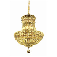 Elegant Lighting Tranquil 6 Light Pendant in Gold with Royal Cut Clear Crystal 2528D14G/RC