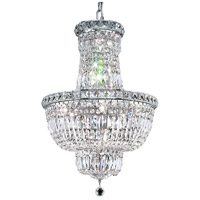 Elegant Lighting Tranquil 12 Light Dining Chandelier in Chrome with Elegant Cut Clear Crystal 2528D18C/EC