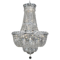 Elegant Lighting Tranquil 22 Light Dining Chandelier in Chrome with Elegant Cut Clear Crystal 2528D22C/EC