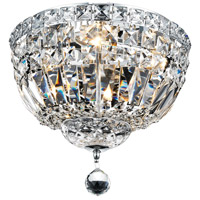 Tranquil 4 Light 12 inch Chrome Flush Mount Ceiling Light in Royal Cut