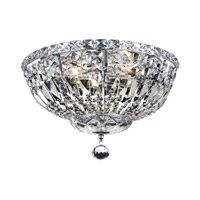 Elegant Lighting Tranquil 4 Light Flush Mount in Chrome with Royal Cut Clear Crystal 2528F14C/RC alternative photo thumbnail