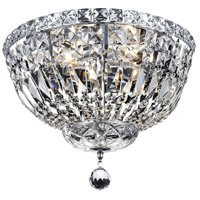 Elegant Lighting Tranquil 4 Light Flush Mount in Chrome with Elegant Cut Clear Crystal 2528F14C/EC