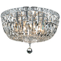 Tranquil 6 Light 16 inch Chrome Flush Mount Ceiling Light in Royal Cut