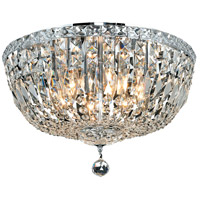 Tranquil 8 Light 18 inch Chrome Flush Mount Ceiling Light in Elegant Cut