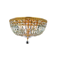 Elegant Lighting Tranquil 8 Light Flush Mount in Gold with Royal Cut Clear Crystal 2528F18G/RC alternative photo thumbnail