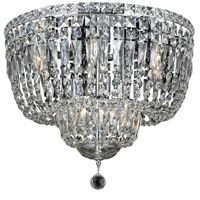 Elegant Lighting Tranquil 10 Light Flush Mount in Chrome with Swarovski Strass Clear Crystal 2528F20C/SS