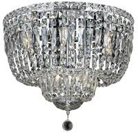 Elegant Lighting V2528F20C/EC Tranquil 10 Light 20 inch Chrome Flush Mount Ceiling Light in Elegant Cut