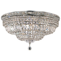 Tranquil 12 Light 24 inch Chrome Flush Mount Ceiling Light in Royal Cut