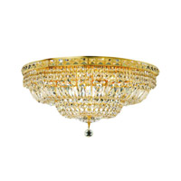 Elegant Lighting 2528F24G/SA Tranquil 12 Light 24 inch Gold Flush Mount Ceiling Light in Spectra Swarovski alternative photo thumbnail