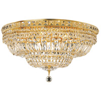 Elegant Lighting Tranquil 12 Light Flush Mount in Gold with Swarovski Strass Clear Crystal 2528F24G/SS