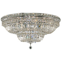 Elegant Lighting Tranquil 18 Light Flush Mount in Chrome with Swarovski Strass Clear Crystal 2528F30C/SS