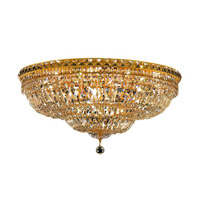 Elegant Lighting Tranquil 18 Light Flush Mount in Gold with Royal Cut Clear Crystal 2528F30G/RC alternative photo thumbnail