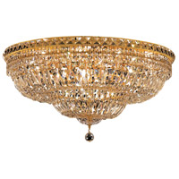 Elegant Lighting Tranquil 18 Light Flush Mount in Gold with Swarovski Strass Clear Crystal 2528F30G/SS