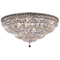 Tranquil 21 Light 36 inch Chrome Flush Mount Ceiling Light in Elegant Cut