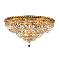 Elegant Lighting 2528F36G/SA Tranquil 21 Light 36 inch Gold Flush Mount Ceiling Light in Spectra Swarovski alternative photo thumbnail