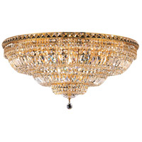 Tranquil 21 Light 36 inch Gold Flush Mount Ceiling Light in Elegant Cut