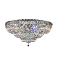 Elegant Lighting 2528F48C/EC Tranquil 33 Light 48 inch Chrome Flush Mount Ceiling Light in Elegant Cut alternative photo thumbnail