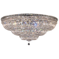 Elegant Lighting Tranquil 33 Light Flush Mount in Chrome with Swarovski Strass Clear Crystal 2528F48C/SS