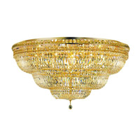 Elegant Lighting Tranquil 33 Light Flush Mount in Gold with Swarovski Strass Clear Crystal 2528F48G/SS alternative photo thumbnail