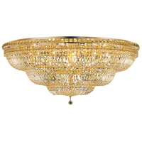 Elegant Lighting Tranquil 33 Light Flush Mount in Gold with Swarovski Strass Clear Crystal 2528F48G/SS