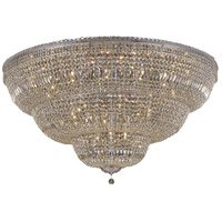 Elegant Lighting V2528F60C/SS Tranquil 48 Light 60 inch Chrome Flush Mount Ceiling Light in Swarovski Strass