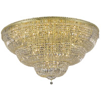 Elegant Lighting V2528F60G/SS Tranquil 48 Light 60 inch Gold Flush Mount Ceiling Light in Swarovski Strass