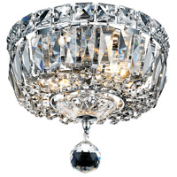 Elegant Lighting Tranquil 2 Light Flush Mount in Chrome with Swarovski Strass Clear Crystal 2528F8C/SS