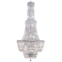 Elegant Lighting Tranquil 34 Light Foyer in Chrome with Swarovski Strass Clear Crystal 2528G28C/SS