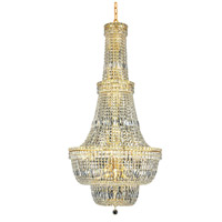 Elegant Lighting Tranquil 34 Light Foyer in Gold with Elegant Cut Clear Crystal 2528G28G/EC