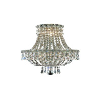 Elegant Lighting Tranquil 3 Light Wall Sconce in Chrome with Elegant Cut Clear Crystal 2528W12C/EC alternative photo thumbnail