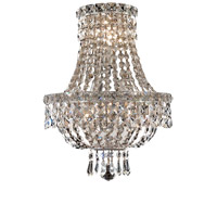 Elegant Lighting Tranquil 3 Light Wall Sconce in Chrome with Elegant Cut Clear Crystal 2528W12C/EC