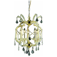 Elegant Lighting Maria Theresa 5 Light Dining Chandelier in Gold with Elegant Cut Clear Crystal 2800D15G/EC