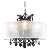 Maria Theresa 6 Light 20 inch Black Dining Chandelier Ceiling Light in Clear, Swarovski Strass, Silver Shade