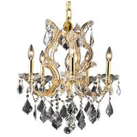 Elegant Lighting 2800D20G/EC Maria Theresa 6 Light 20 inch Gold Dining Chandelier Ceiling Light in Clear Elegant Cut