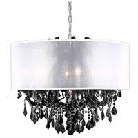 Maria Theresa 9 Light 30 inch Black Dining Chandelier Ceiling Light in Clear, Royal Cut, Silver Drum Shade
