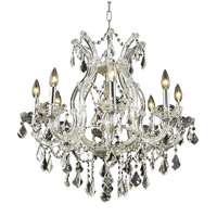 Elegant Lighting 2800D26C/RC Maria Theresa 9 Light 26 inch Chrome Dining Chandelier Ceiling Light in Clear, Royal Cut, (None) alternative photo thumbnail