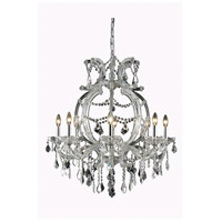 Elegant Lighting 2800D28C/EC Maria Theresa 8 Light 29 inch Chrome Dining Chandelier Ceiling Light in Clear Elegant Cut