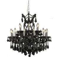 Elegant Lighting 2800D30B-JT/RC Maria Theresa 19 Light 30 inch Black Chandelier Ceiling Light