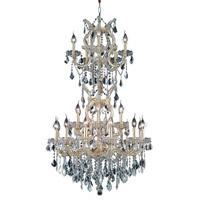 Elegant Lighting 2800D30SG/SA Maria Theresa 25 Light 30 inch Gold Dining Chandelier Ceiling Light in Clear, Spectra Swarovski alternative photo thumbnail