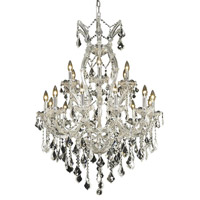 Elegant Lighting Maria Theresa 19 Light Dining Chandelier in Chrome with Swarovski Strass Clear Crystal 2800D32C/SS alternative photo thumbnail