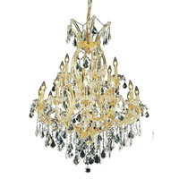 Elegant Lighting Maria Theresa 19 Light Dining Chandelier in Gold with Elegant Cut Clear Crystal 2800D32G/EC alternative photo thumbnail