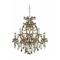 Elegant Lighting 2800D33GT-GT/RC Maria Theresa 12 Light 34 inch Golden Teak Dining Chandelier Ceiling Light in Royal Cut